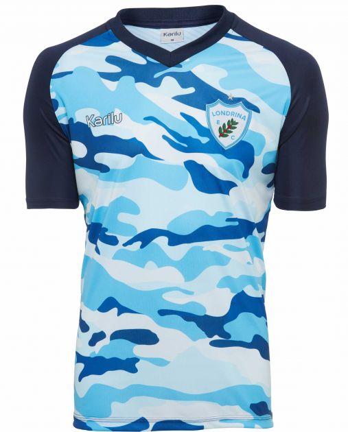 Camisa de aquecimento camuflada - Londrina 2019