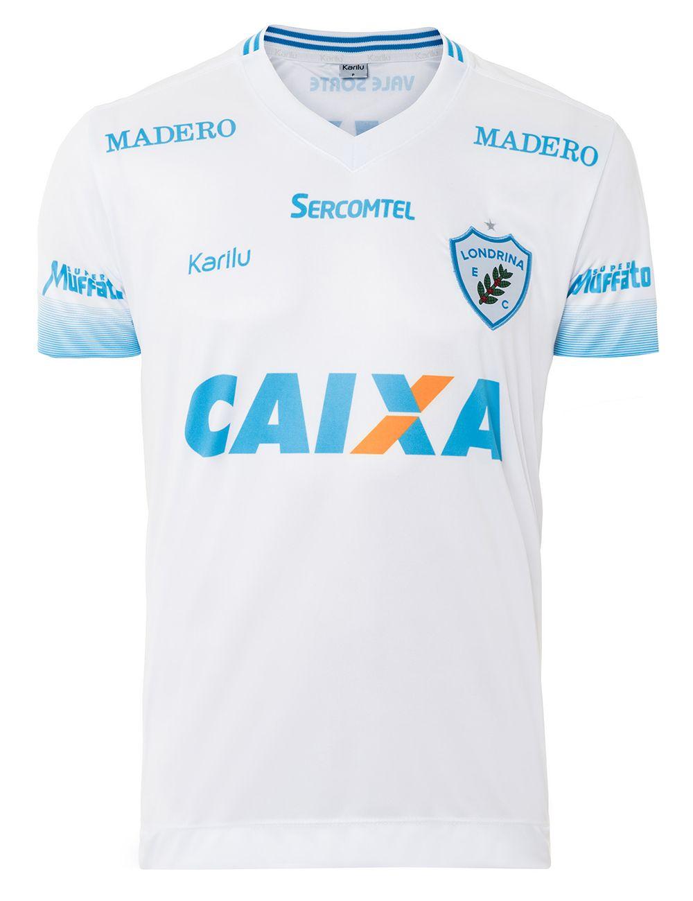 Camisa oficial do Londrina - Branco - BRASILEIRÃO 2017 na Karilu d3b991b0b2b09
