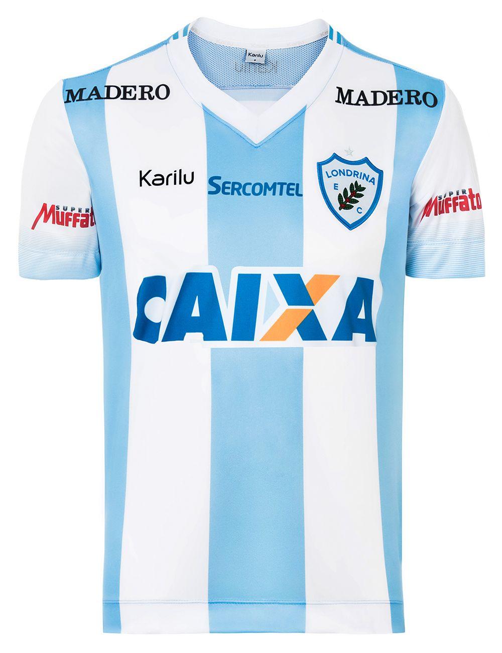 a483946ee Camisa oficial do Londrina - Listrado - BRASILEIRÃO 2017 na Karilu