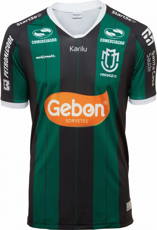 624b3e1e28524 Camisa oficial do Maringá - modelo 1 2019 na Karilu