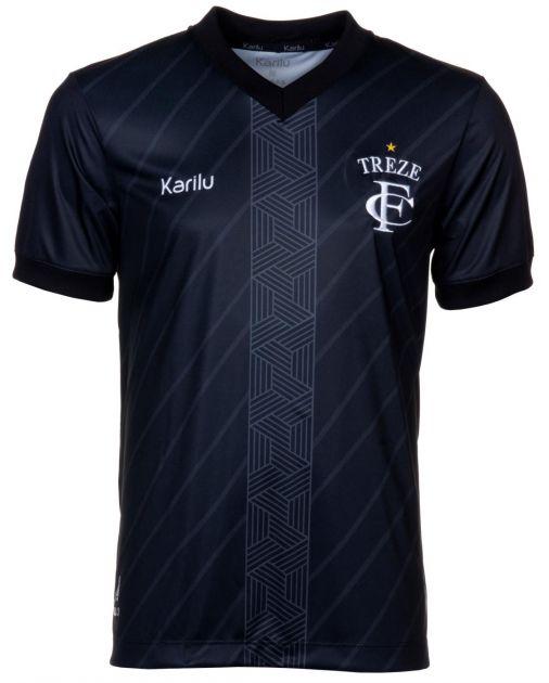 Camisa oficial do Treze Futebol Clube  - 2021 - PRETO SEM PATROCINIOS