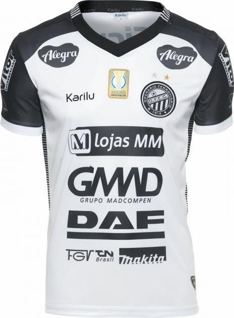 Camisa oficial do Operário - Branco com preto 2018