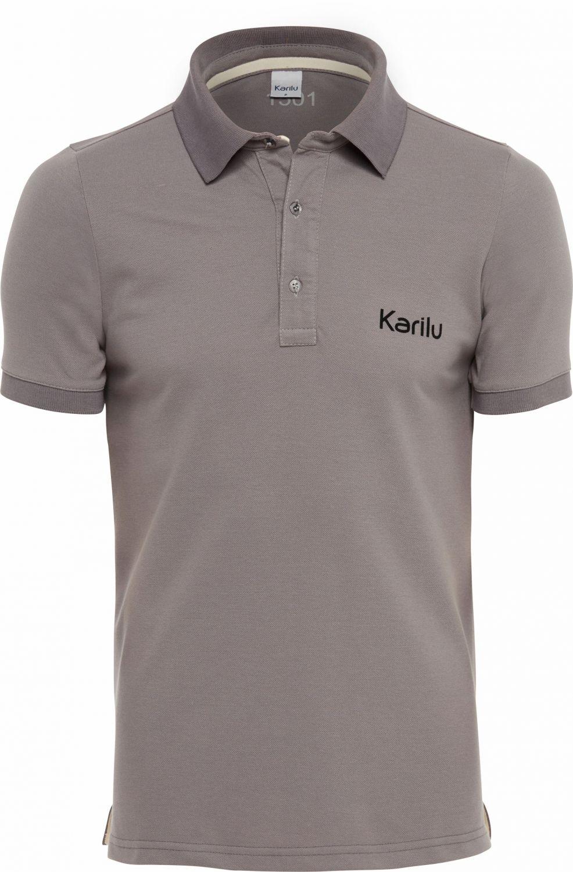 3ea91fcb87 Camisa em piquet com gola polo camisaria na Karilu