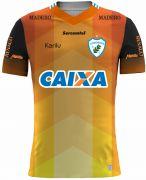 Camisa oficial de goleiro Londrina - Laranja com Preto