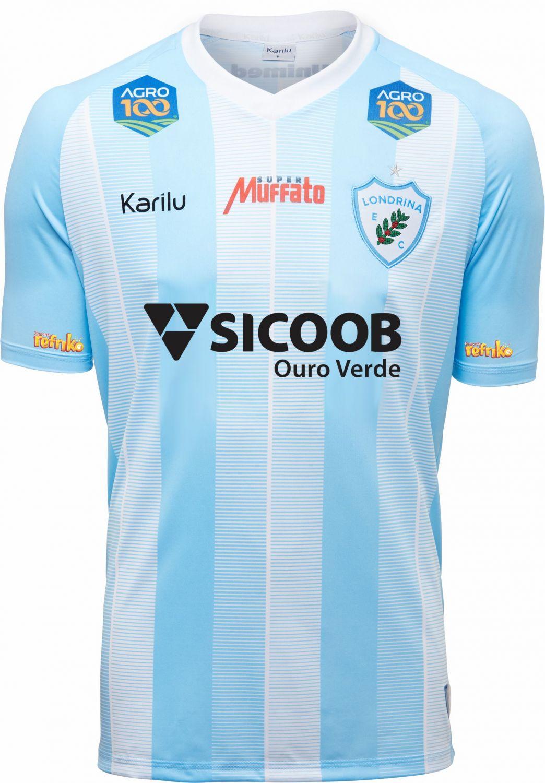 Camisa oficial do Londrina - Listrado - 2019 na Karilu 77f11bf2a0cf3