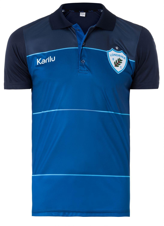 Camisa polo Londrina em Dry Marinho na Karilu 5b890299aec
