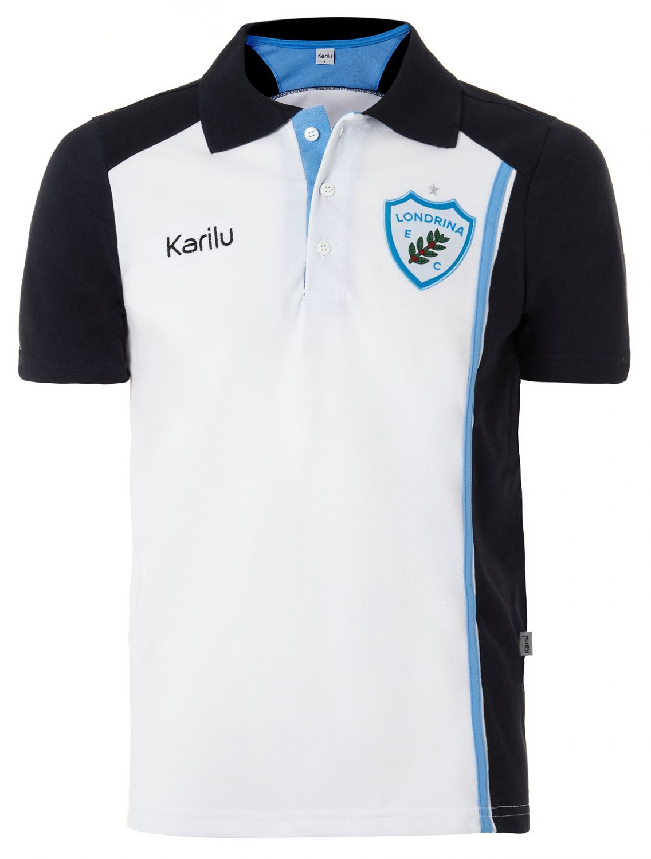 2989fbedb Camisa polo Londrina Branca com Marinho na Karilu