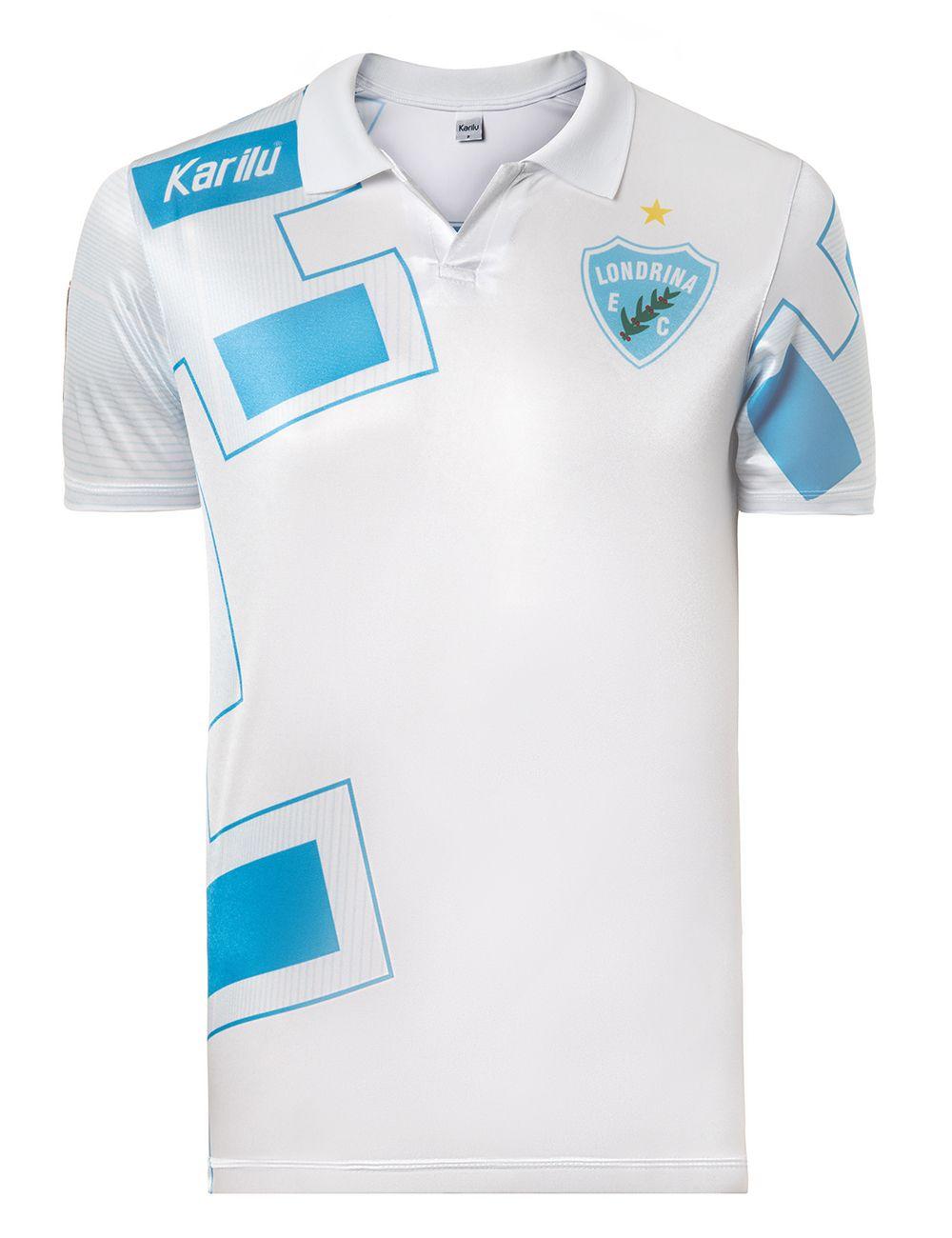 18055bd71 Camisa Retrô do Londrina - 1992 - Modelo branco na Karilu